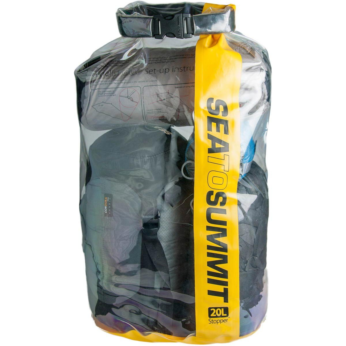 Sea To Summit Stopper Clear Dry Bag 20L Yellow